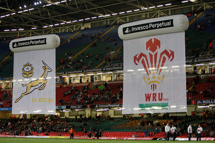 Photo: Richard Lane/Richard Lane Photography..Wales v South Africa. Prince William Cup. 24/11/2007. .Banners.