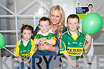 KERRY COLOURS: Showing their true colours on Saturday at Brownes Home& Builders Providers open day in Castleisland on Saturday to Amanda Brunker, Rachel,Christopher and Donal Murphy Headford, Killarney...........................