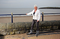 Pictured: Pat Stewart at Barry, south Wales. <br /> Re: 77 year old Pat Stewart (nee Wilson) who now lives near Llantwit Major in the Vale of Glamorgan, south Wales claims she is one of the two young ladies in an iconic image taken by photographer Bert Hardy at Blackpool Promenade in July 1951, alongside fellow Tiller girl Wendy Clarke. Stewart is alleging that another woman, Norma Edmondson who has been claiming that it is her in the picture, is a fraud.