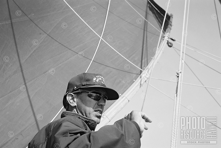 Sail from Hiroshima to Uwajima<br /> HOKULE'A VOYAGE TO JAPAN - MAY 2007<br /> film 35mm format