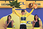 Race leader Geraint Thomas (WAL) Team Sky retains the Yellow Jersey at the end of Stage 15 of the 2018 Tour de France running 218km from Carcassonne to Bagneres-de-Luchon, France. 24th July 2018. <br /> Picture: ASO/Pauline Ballet | Cyclefile<br /> All photos usage must carry mandatory copyright credit (© Cyclefile | ASO/Pauline Ballet)