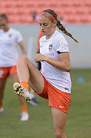 Houston, TX - Sunday June 19, 2016: Janine Beckie prior to a regular season National Women's Soccer League (NWSL) match between the Houston Dash and FC Kansas City at BBVA Compass Stadium.