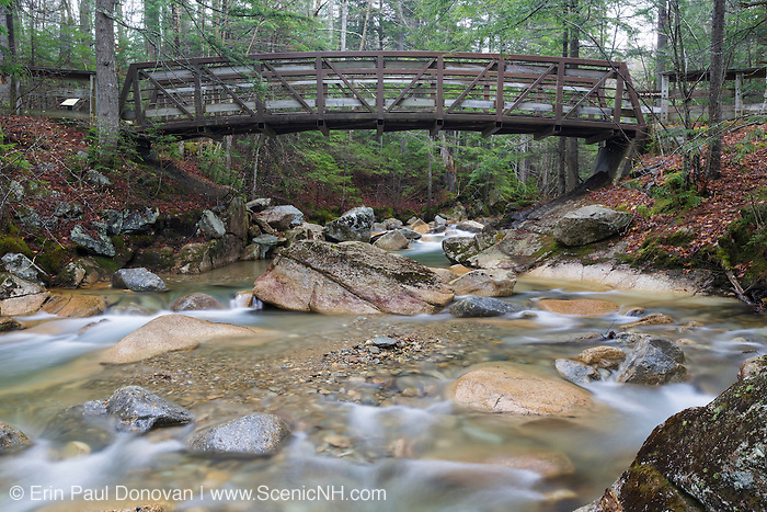 "The Pemigewasset River, just below the ""The Basin"" viewing area, in Franconia Notch State Park of Lincoln, New Hampshire USA during the spring months."