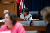 United States Representative Maxine Waters (Democrat of California) speaks during the testimony of United States Secretary of the Treasury Steven T. Mnuchin before the United States House Committee on Financial Services at the United States Capitol in Washington D.C., U.S., on Thursday, December 5, 2019. <br /> <br /> Photographer: Stefani Reynolds/CNP