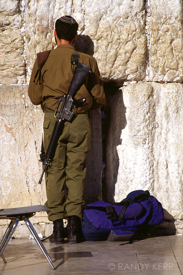 Israeli Soldier at Western Wall