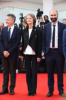 Paolo Del Brocco, Charlotte Rampling and Clement Duboin arrives at the 'Hannah' screening during the 74th Venice Film Festival at Sala Grande on September 8, 2017 in Venice, Italy. <br /> CAP/GOL<br /> &copy;GOL/Capital Pictures