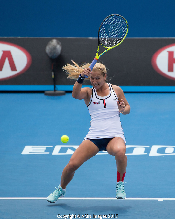 Dominika Cibulkova (SVK)<br /> <br /> Tennis - Australian Open 2015 - Grand Slam -  Melbourne Park - Melbourne - Victoria - Australia  - 20 January 2015. <br /> &copy; AMN IMAGES