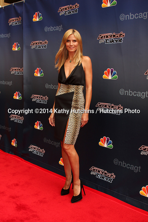 "LOS ANGELES - APR 22:  Heidi Klum at the ""America's Got Talent"" Los Angeles Auditions Arrivals at Dolby Theater on April 22, 2014 in Los Angeles, CA"