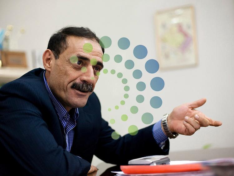 KIRKUK, IRAQ: Rizgar Ali Hamajan, the Kurdish chairman of the Kirkuk Provincial Council...Picture: Sebastian Meyer/ Universal News And Sport (Europe). 11/03/2010.