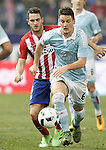 Atletico de Madrid's Koke Resurrecccion (l) and Celta de Vigo's Nemanja Radoja during Spanish Kings Cup match. January 27,2016. (ALTERPHOTOS/Acero)