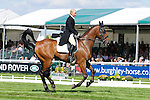Lauren Yallop riding One More Step during day 2 of the dressage phase at the 2012 Land Rover Burghley Horse Trials in Stamford, Lincolnshire,UK.