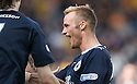 KALLUM HIGGINBOTHAM CELEBRATES AFTER HE SCORES FALKIRK'S SECOND