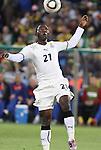 13 JUN 2010: Kwadwo Asamoah (GHA). The Serbia National Team lost 0-1 to the Ghana National Team at Loftus Versfeld Stadium in Tshwane/Pretoria, South Africa in a 2010 FIFA World Cup Group D match.