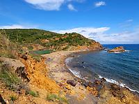 Strand bei Laghettto di Terranera, Elba, Region Toskana, Provinz Livorno, Italien, Europa<br /> Beach near Laghettto di Terranera, Elba, Region Tuscany, Province Livorno, Italy, Europe