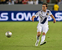 CARSON, CA - September 1, 2012: LA Galaxy defender Todd Dunivant (2) during the LA Galaxy vs the Vancouver Whitecaps FC at the Home Depot Center in Carson, California. Final score LA Galaxy 2, Vancouver Whitecaps FC 0.