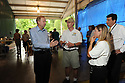 Bob Dudley, left, CEO of BP, tours the Audubon Nature Institute's turtle rehabilitation center with Dr. Robert MacLean, Michele Kelley and Ron Forman in New Orleans, Wed., June 23, 2010.<br /> <br /> (AP Photo/Cheryl Gerber)
