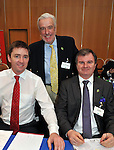 IHF- REPRO FREE HOTELIERS CONFERENCE KILLARNEY: .Dublin hoteliers, Stephen Hanna, Camden Court Hotel, Dublin, Terry McCoy, Redbank, Skerries and Alan Moody, Ashling Hotel, Dublin pictured at the IHF conference in The Malton Hotel, Killarney on Monday..Picture by Don MacMonagle...PR photo IHF