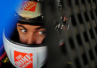 Sept. 27, 2008; Kansas City, KS, USA; Nascar Sprint Cup Series driver Joey Logano during practice for the Camping World RV 400 at Kansas Speedway. Mandatory Credit: Mark J. Rebilas-