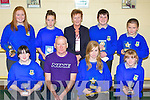 Students who received awards at the Castleisland Community College awards on Thursday front row l-r: Alison McGaley, Pat Murphy, Amy Reidy, Katie Reidy. Back row: Seorcha O'Connor, Orla White, Anne O'Sullivan, Damian O'Sullivan and Shane Browne....