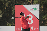 S.S.P Chawrasia (IND) in action on the 13th during Round 2 of the Hero Indian Open at the DLF Golf and Country Club on Friday 9th March 2018.<br /> Picture:  Thos Caffrey / www.golffile.ie<br /> <br /> All photo usage must carry mandatory copyright credit (&copy; Golffile | Thos Caffrey)