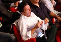 Il sindaco di Firenze Matteo Renzi sbadiglia durante la seconda giornata dell'Assemblea Nazionale del Partito Democratico a Roma, 21 settembre 2013.<br /> Florence's Mayor Matteo Renzi yawns during the second day of the Italian Democratic Party's National Assembly in Rome, 21 September 2013.<br /> UPDATE IMAGES PRESS/Riccardo De Luca