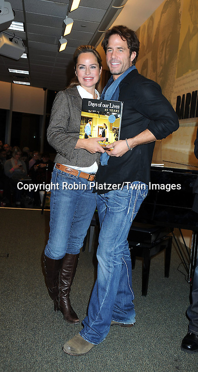 """Crystal Chappell and Shawn Christian at the book signing for""""Days of Our Lives 45 Years :A Celebration in Photos"""" at Barnes & Nobles, Lincoln Triangle in New York City on December 7, 2010..photo by Robin Platzer/ Twin Images"""