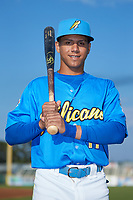 Myrtle Beach Pelicans shortstop Aramis Ademan (11) poses for a photo prior to the game against the Winston-Salem Dash at TicketReturn.com Field on May 16, 2019 in Myrtle Beach, South Carolina. The Dash defeated the Pelicans 6-0. (Brian Westerholt/Four Seam Images)