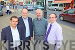 Members of Newcastle West Chambers of Commerce pictured in the square last Thursday. l-r: Ken Heaphy, Colm O'Donovan, Peter Byrne and J D Foley..
