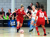 Sacred Heart (NP) v Mount Albert. 2018 New Zealand Secondary Schools Girls' National Futsal Championships at ASB Sports Centre in Wellington, New Zealand on Tuesday, 20 March 2018. Photo: Dave Lintott / lintottphoto.co.nz