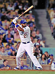 22 July 2011: Los Angeles Dodgers outfielder Matt Kemp in action against the Washington Nationals at Dodger Stadium in Los Angeles, California. The Nationals defeated the Dodgers 7-2 in their first meeting of the 2011 season. Mandatory Credit: Ed Wolfstein Photo
