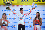 Tim Wellens (BEL) Lotto-Soudal retains the mountains Polka Dot Jersey at the end of Stage 4 of the 2019 Tour de France running 213.5km from Reims to Nancy, France. 9th July 2019.<br /> Picture: ASO/Pauline Ballet | Cyclefile<br /> All photos usage must carry mandatory copyright credit (© Cyclefile | ASO/Pauline Ballet)