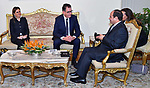 Egyptian President Abdel Fattah al-Sisi meets with German Federal Minister of Economic Cooperation and Development Gerd Muller, in Cairo, Egypt, on October 10, 2017. Photo by Egyptian President Office