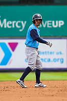 Colorado Springs Sky Sox second baseman Nate Orf (6) during a Pacific Coast League game against the Iowa Cubs on June 23, 2018 at Principal Park in Des Moines, Iowa. Colorado Springs defeated Iowa 4-2. (Brad Krause/Four Seam Images)