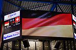 Anzeige Deutschlandflagge beim Spiel Deutschland (dunkel) -  Schweiz (hell).<br /> <br /> Foto &copy; PIX-Sportfotos *** Foto ist honorarpflichtig! *** Auf Anfrage in hoeherer Qualitaet/Aufloesung. Belegexemplar erbeten. Veroeffentlichung ausschliesslich fuer journalistisch-publizistische Zwecke. For editorial use only.