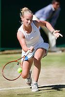 1-7-08, England, Wimbledon, Tennis, Richel Hogenkamp