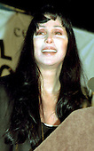 Actress Cher speaks in support of her daughter Chastity's voter mobilization work for the Human Rights Campaign on the Ellipse in Washington, D.C. on October 11, 1996.  It is Cher's first public appearance in support of her daughter's work and lifestyle..Credit: Ron Sachs / CNP