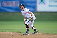 High Point-Thomasville HiToms second baseman Kennon Menard (2) on defense against the Asheboro Copperheads at Finch Field on June 12, 2015 in Thomasville, North Carolina.  The HiToms defeated the Copperheads 12-3. (Brian Westerholt/Four Seam Images)