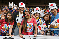 June 12, 2015: Japanese fans in the crowd during a Group C match at the FIFA Women's World Cup Canada 2015 between Cameroon and Japan at BC Place Stadium on 12 June 2015 in Vancouver, Canada. Japan won 2-1. Sydney Low/AsteriskImages