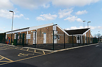 Pictured: Ysgol Y Deri School in Penarth, Wales, UK. Friday 02 February 2018<br /> Re: 12 year old Alex Jones, who has Down's Syndrome, was not dropped off home by bus company CJ Contract Travel Services but instead was discovered at the company's depot in Barry, south Wales, on his way back from Ysgol Y Deri School in nearby Penarth.
