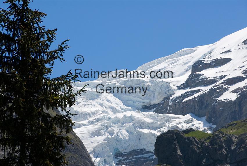 CHE, Schweiz, Kanton Bern, Berner Oberland, Schweiz, Berner Oberland, Grindelwald: Oberer Grindelwaldgletscher | CHE, Switzerland, Bern Canton, Bernese Oberland, Grindelwald: Upper Grindelwald Glacier
