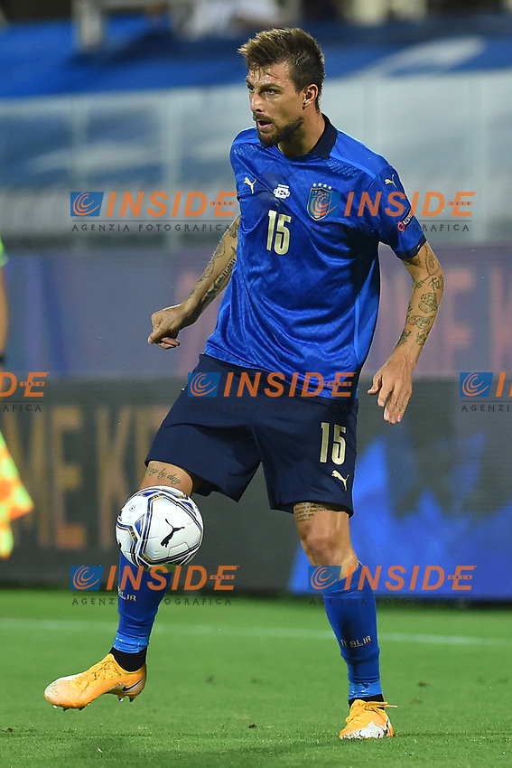 Francesco Acerbi of Italy in action during the Uefa Nation League Group Stage A1 football match between Italy and Bosnia at Artemio Franchi Stadium in Firenze (Italy), September, 4, 2020. Photo Massimo Insabato / Insidefoto