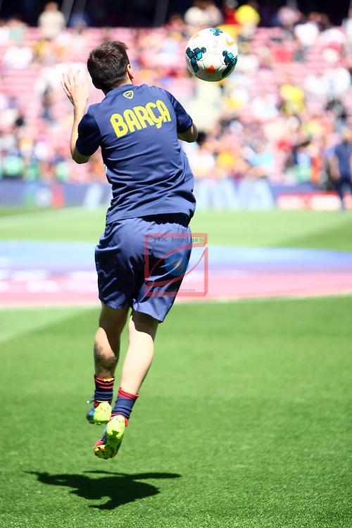League BBVA 2013/2014 - Game: 36<br /> FC Barcelona vs Getafe CF: 2-2.<br /> Lionel Messi.