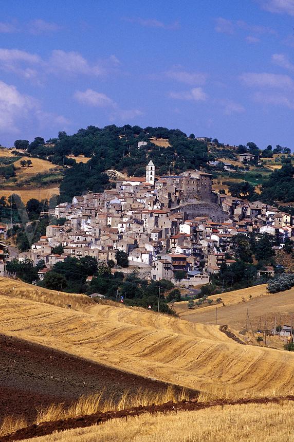 Southern Italian hillside village, Basilicata, Italy