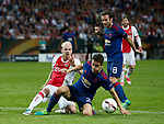Ander Herrera of Manchester United tackles Davy Klaassen of Ajax during the UEFA Europa League Final match at the Friends Arena, Stockholm. Picture date: May 24th, 2017.Picture credit should read: Matt McNulty/Sportimage