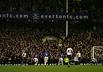 Everton 1, West Ham United 2, 14/12/2005. Goodison Park, FA Premiership. Everton host West Ham United in a mid-season game on Merseyside. Everton players and fans celebrating their team's goal, scored by James Beattie. The away team came from behind to win, watched by a crowd of 35,704. Photo by Colin McPherson.
