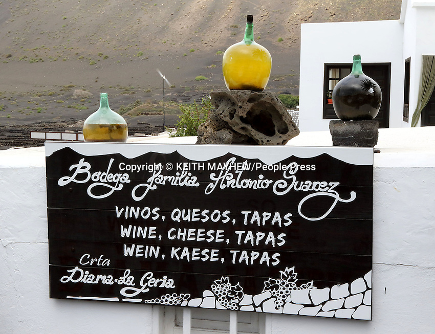 LANZAROTE, CANARY ISLANDS - La Geria Bodega Antonio Suarez nr Yaiza , during January 2016 in Lanzarote, Canary Islands<br /> <br /> Photo by Keith Mayhew