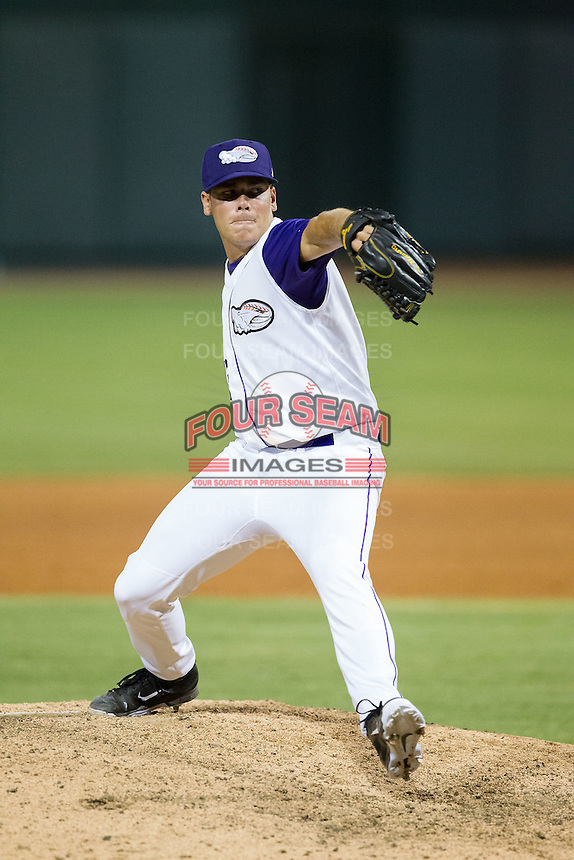 Winston-Salem Dash relief pitcher David Putman (13) in action against the Myrtle Beach Pelicans at BB&T Ballpark on July 16, 2014 in Winston-Salem, North Carolina.  The Pelicans defeated the Dash 6-2.   (Brian Westerholt/Four Seam Images)