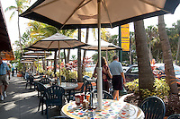 Outdoor dining, St. Armands Circle, Lido Keys, Sarasota, Florida, USA. Photo by Debi Pittman Wilkey