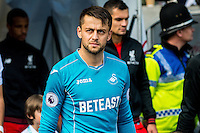 Lukasz Fabianski of Swansea City  Leaves the tunnel during the Premier League match between Swansea City and Liverpool at The Liberty Stadium on October 1, 2016 in Swansea, Wales.