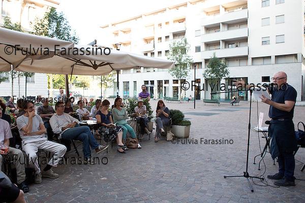 Milano,25 giugno 2015, Libreria Gogol, Paolo Nori <br />  reading del libro &quot; La piccola Battaglia portatile&quot; di Paolo Nori  editore Marcos y Marcos